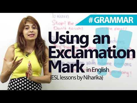 English Grammar lessons - When to Use an Exclamation Mark? - Punctuation Marks