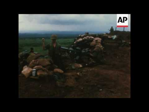 US Marines at Con Thien, South Vietnam, put camp in order after North  Vietnasse military and warrior