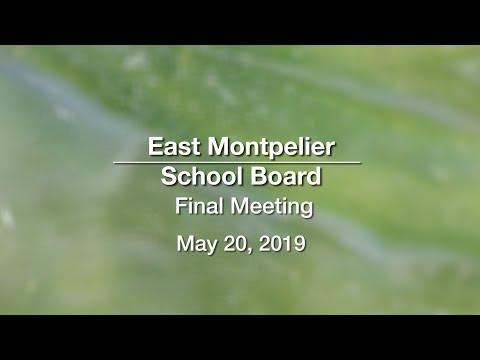 East Montpelier School Board - May 20, 2019