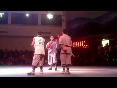 Kung Fu show in Shaolin temple in Henan, China
