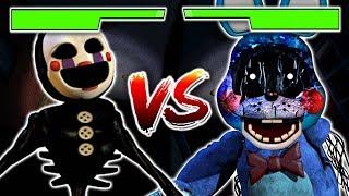 CLUTCH PUPPET VS BONNIE FIGHT!! WHO WINS? | FNAF World: Fazbear Kombat (Five Nights at Freddys)