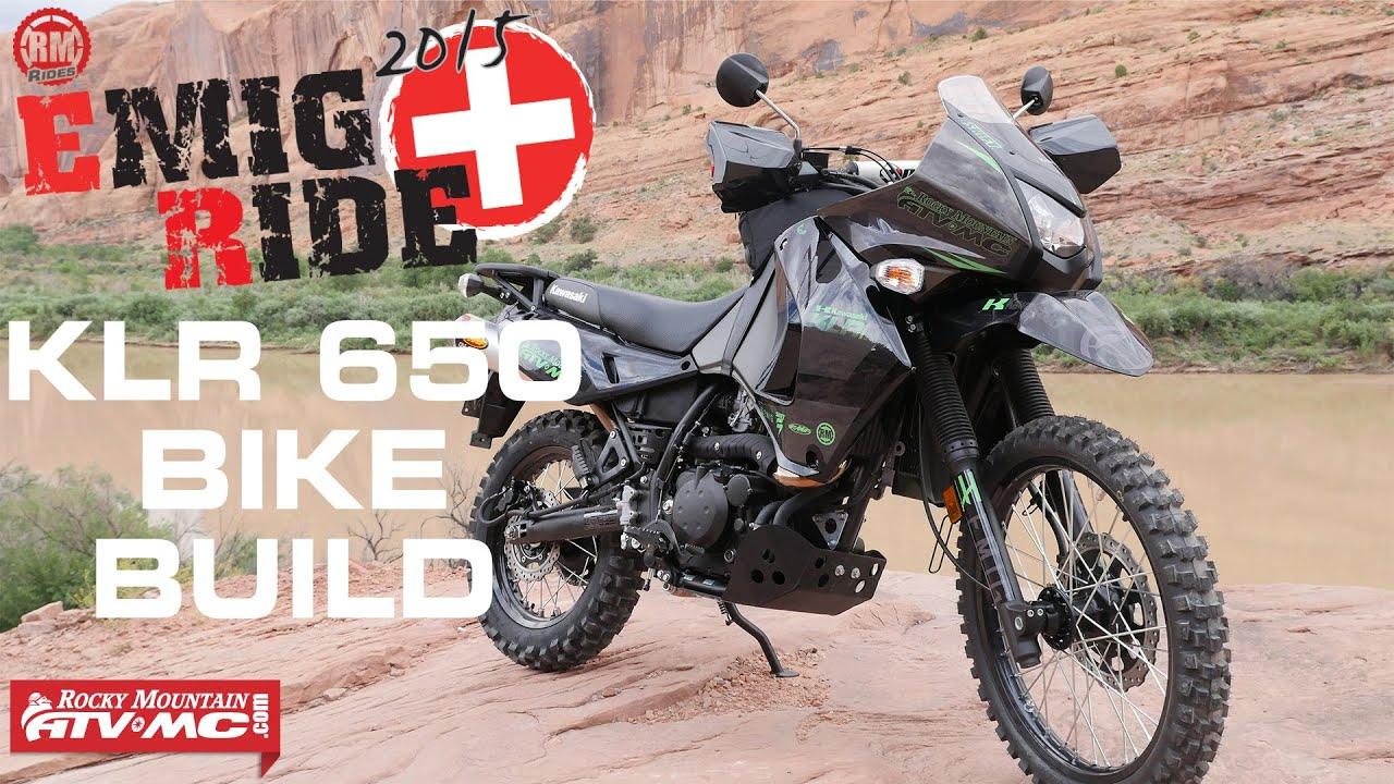 Jeff Emig 2015 Kawasaki KLR650 Adventure Bike Build Essentials  YouTube