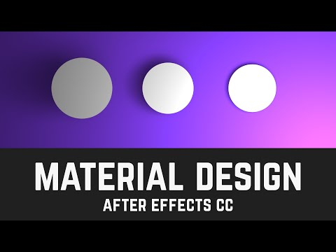 T013 Material Design Layers & Shadows in After Effects (Light Tool Tutorial)
