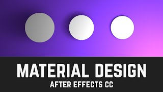 Material Design Layers & Shadows in After Effects (Light Tool Tutorial) - T013