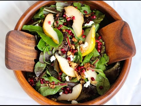Salad Recipe: Pear, Pomegranate & Walnut Salad by CookingForBimbos.com