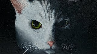"How to Paint Fur - Beginner Series #10 ""Cat Portrait"" Acrylic Painting LIVE Tutorial"