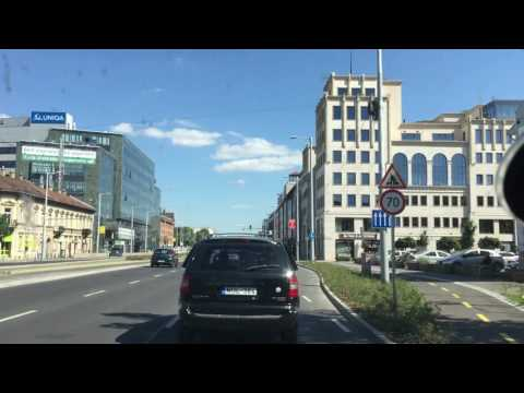 Van driving in Budapest