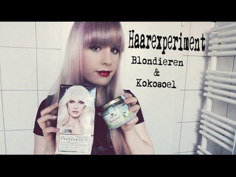 Haarexperiment Blondieren Kokosöl Youtube