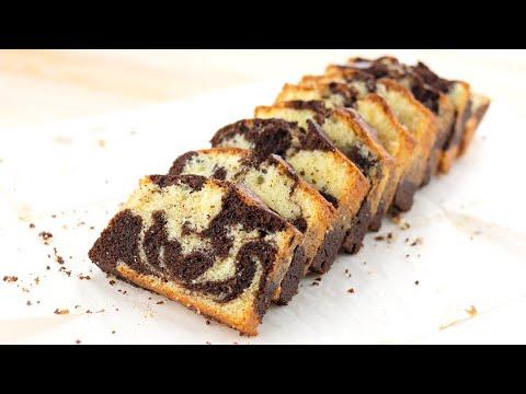 大理石磅蛋糕做法 - 超濕潤鬆軟 簡易零失敗 - YouTube