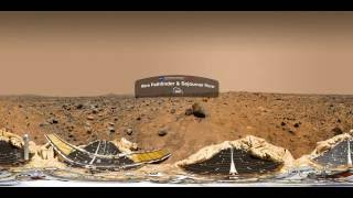 NASA |  Mars Pathfinder & Sojourner Rover 360 View