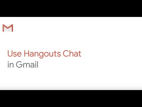 How To: Use Hangouts Chat In Gmail
