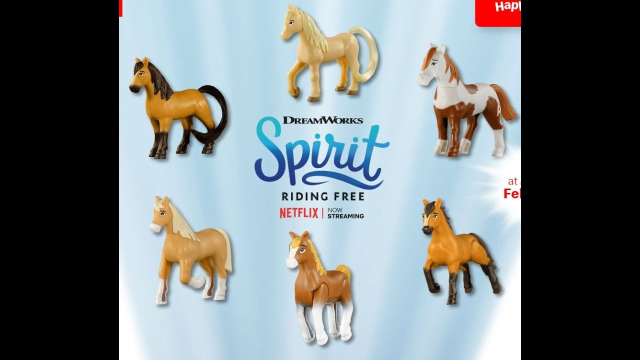 Mcdonalds happy meal toys Spirit Riding Free
