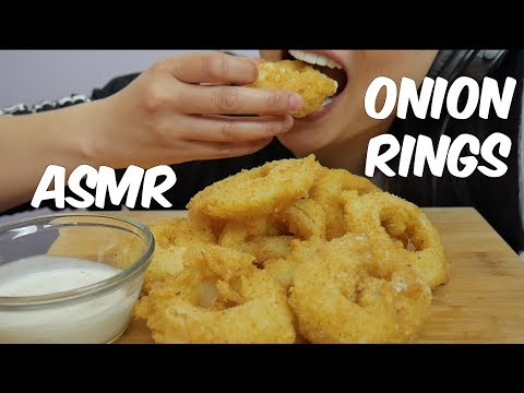 ASMR Onion Rings stuffed MOZZARELLA CHEESE (EXTREME CRUNCH EATING SOUNDS) No Talking | SAS-ASMR