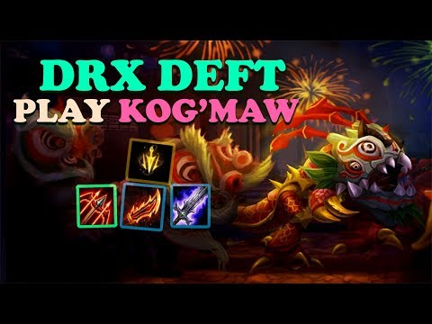 DRX DEFT PLAY ADC KOG'MAW VS DRAVEN - KR CHALLENGER PATCH 10.9