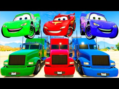 Thumbnail: Lightning McQueen Colors Transportation & Nursery Rhymes