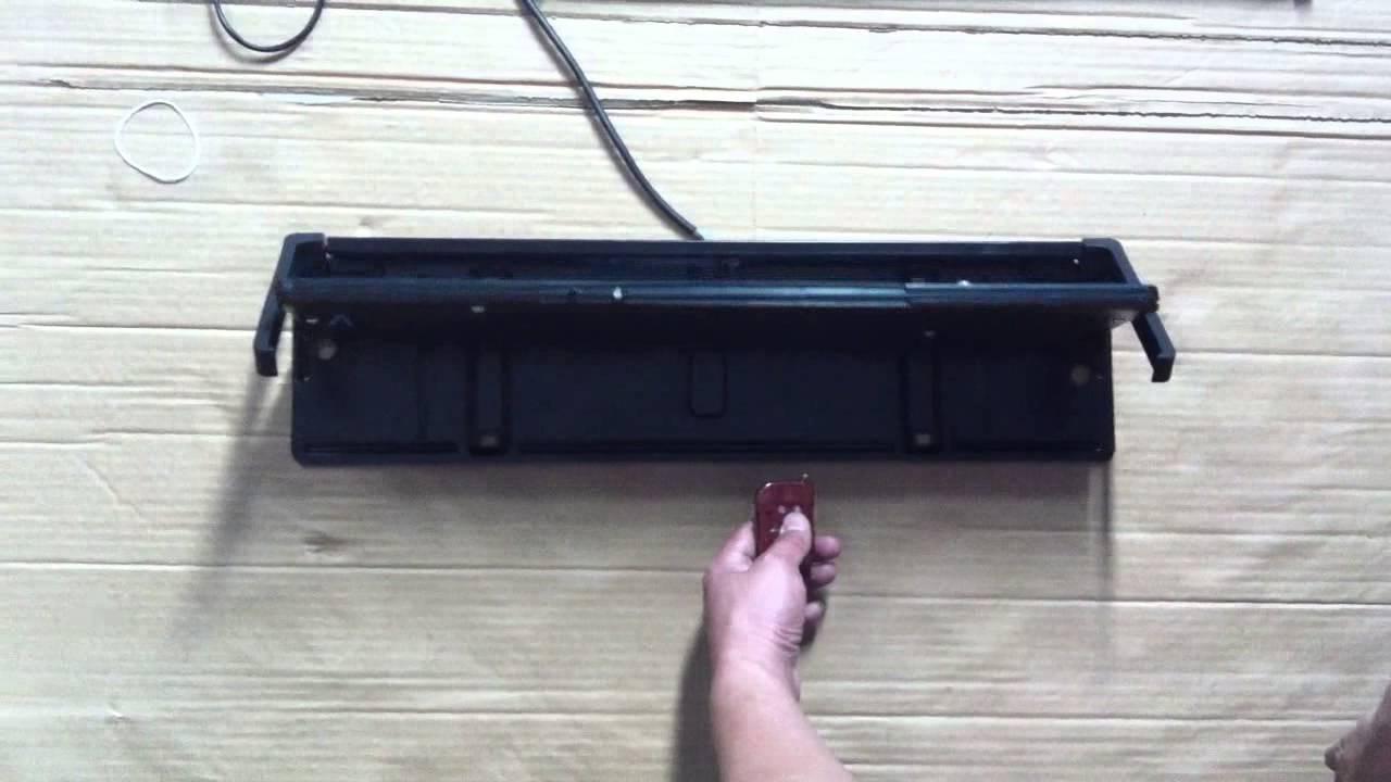 kennzeichenhalter license plate remote hide stealth mit rollo youtube. Black Bedroom Furniture Sets. Home Design Ideas