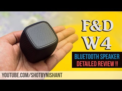 F&D W4 | Wireless Bluetooth Speaker | Detailed Review & Unboxing | Sound Test