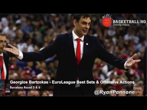 Best EuroLeague Offense sets & actions Georgios Bartzokas Barcelona Round 5 & 6