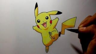 Wie zeichnet man Pikachu [Pokemon Tutorial]