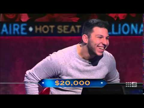 The luckiest quiz show contestant ever? Hot Seat Millionaire (Australia)