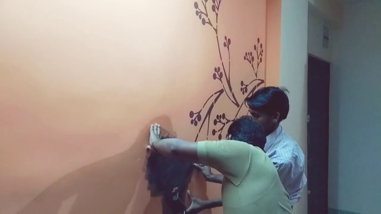 Asian paint stencils design work - YouTube