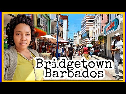 A Day In Bridgetown Barbados | Popular  Shopping Streets In