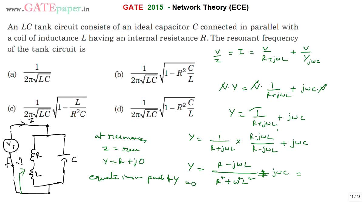 Q Factor For Parallel Resonant Circuit Formula Series Resonance In Basic Principles Of The Lc Gate Ece Frequency With Ideal