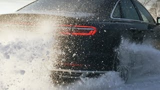 New AUDI A8 (2018) TDI QUATTRO - DRIFTING on SNOW & ICE