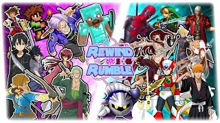 SWORDSMEN FREE FOR ALL! (Minecraft vs Terraria, Deadpool, Trunks, Link, SAO & More!) REWIND RUMBLE!