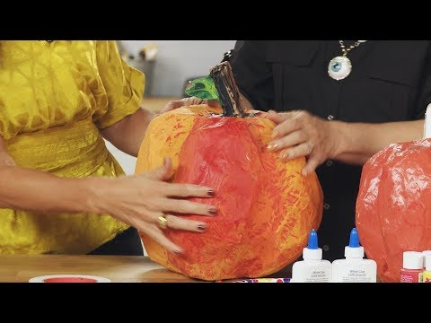 Paper Mache Pumpkin (Part 2)