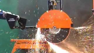 MPS40 Manual Cutoff Saw - Cutting steel Ingot