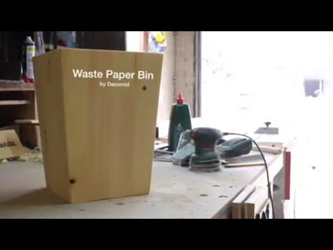Waste Paper Bin Build - Decomid Woodworking #1