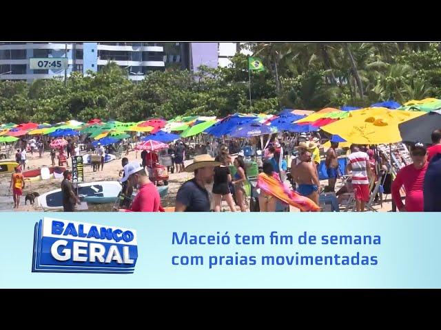 Com novas flexibilizações: Maceió tem fim de semana com praias movimentadas