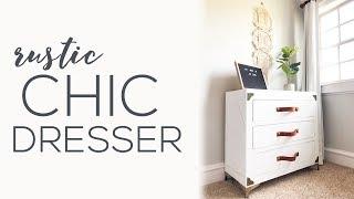 Rustic Glam 3 Drawer Dresser