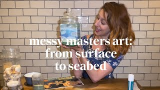 Make your own ocean in a jar | Messy Masters Art Class | Learn at home with Maggie & Rose