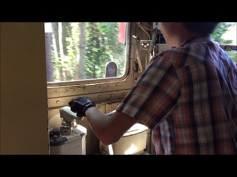 Shore Line Trolley Museum HD 60 FPS: Fan Railer Operates NYC Subway Car R17 6688 (Operator POV)