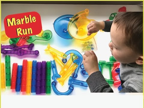 MARBLE RUN TOY REVIEW | RACING | Beckham