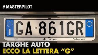 TARGHE auto | Ecco la lettera G. Bye bye serie F
