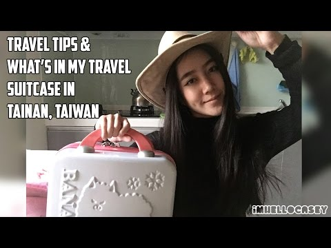 What's in Travel Suitcase to Tainan, Taiwan and Travel Tips