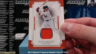 2017 National Treasures Baseball Case PYT #112 ~ 7/22/18
