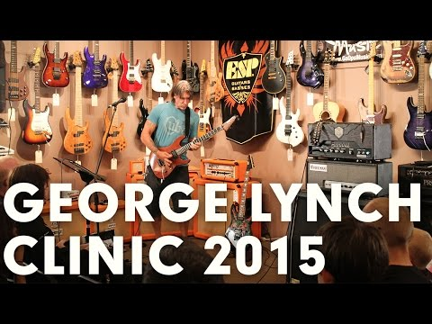 George Lynch Full Length Guitar Clinic at GoDpsMusic March 27, 2015
