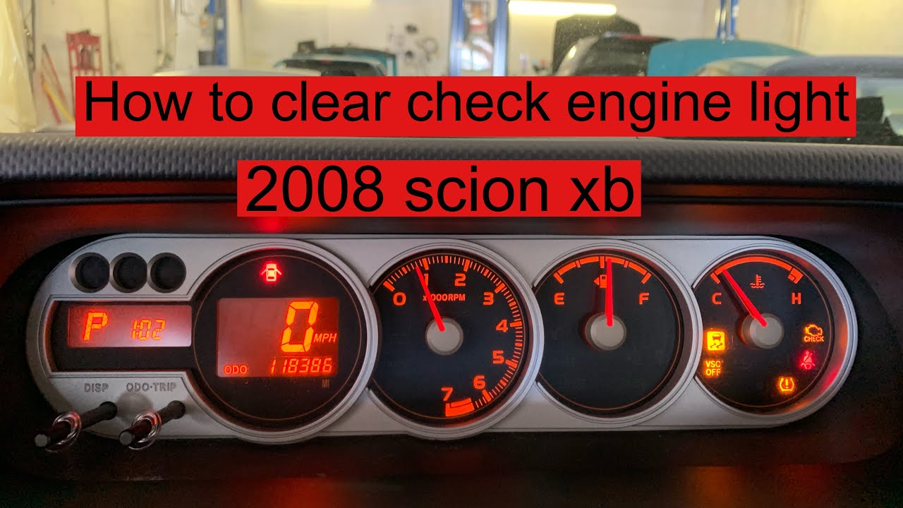 Check Engine Light On And Off >> How To Clear Check Engine Light On 2008 Scion Xb
