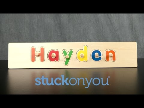 Personalized Wooden Name Puzzle from Stuck On You