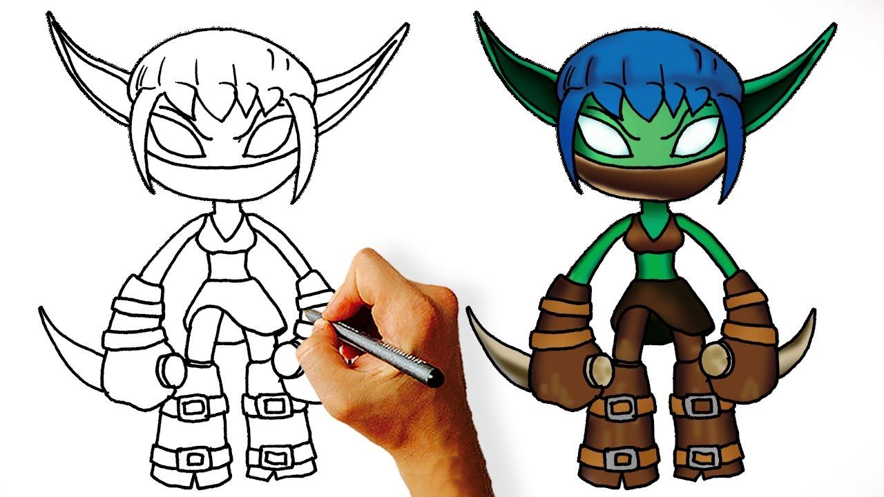 how to draw stealth elf skylanders youtube