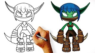 How to Draw Stealth Elf (Skylanders)