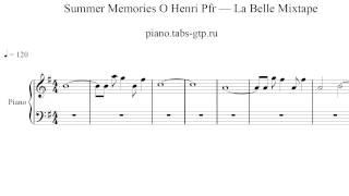 Summer Memories O Henri Pfr La Belle Mixtape Ноты для Фортепиано