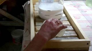 изготовление формы для декоративного камня из силикона