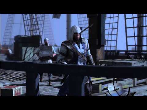 Assassins Creed 3 -  how to: Musket Air Assassination (The Tea Party)