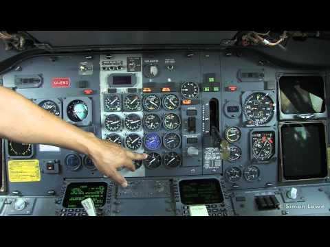 Boeing 737-375 Preflight cockpit tour.