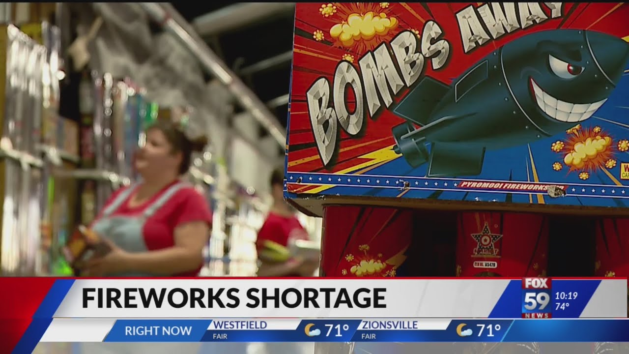 Indiana fireworks stores battling product shortage